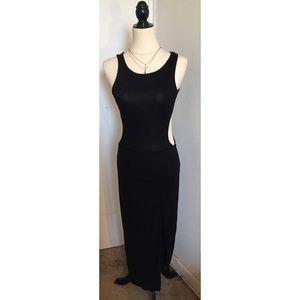 🦋ASOS Boho Black Bodycon Midi Dress Size 8